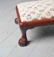 Carved Mahogany Footstool by Whytock & Reid (3 of 5)