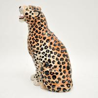 1970's Large Vintage Porcelain Leopard Sculpture (3 of 11)