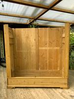 Big! Old 19th Century Pine Double Door Wardrobe - We Deliver & Assemble! (12 of 14)