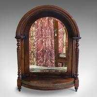 Antique Butler's Mirror, English, Rosewood, Dome Top, Wall, Victorian c.1880 (2 of 11)