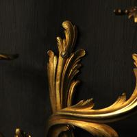 French Pair Of Bronze Antique Wall Sconces Oka (7 of 10)