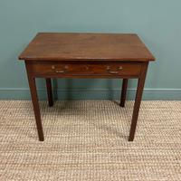 Mahogany George III Figured  Antique Side Table (3 of 5)