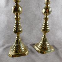 Pair of 19th Century Victorian Brass Candlesticks (4 of 5)
