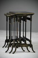 Nest Oriental Black Lacquer Tables