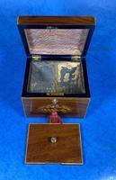 18th Century Mahogany  Shell Inlaid Tea Caddy (5 of 18)
