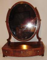 Sheraton mahogany toilet mirror (2 of 6)