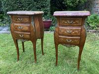 Pair of Marquetry Bedside Tables (8 of 8)