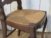 Six Oak & Rush Seated Dining Chairs (7 of 8)