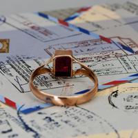 The Antique 1919 Rose Gold Garnet Ring (5 of 5)
