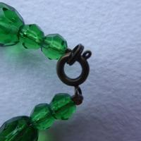 Green Foiled Glass Bead Necklace (7 of 7)