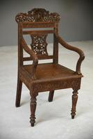 Anglo Indian Carved Padouk Chair (3 of 12)