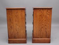 Pair of Mid 20th Century Burr Oak Bedside Chests (6 of 11)
