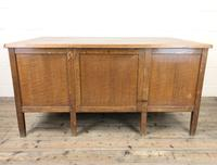Early 20th Century Oak Desk with Six Drawers (10 of 10)