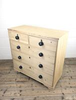 Victorian Antique Pine Chest of Drawers (7 of 10)