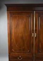 Edwardian Mahogany Inlaid Two Door Wardrobe (3 of 5)