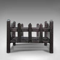 Antique Fire Basket, English, Cast Iron. Fireside, Grate, Late Victorian c.1900 (5 of 10)