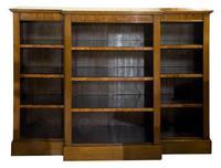 Oak Breakfront Open Bookcase with Adjustable Shelves (2 of 6)