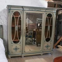 Very Pretty Original Aged Paint French Bedroom Suite (7 of 13)