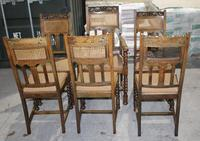 1920s Set 6 Oak Barley Twist Dining Chairs with Cane Backs (2 of 3)