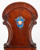 Good Pair of Victorian Mahogany Hall Chairs (3 of 8)