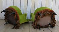 Pair of French Antique Napoleon III Tub Armchairs (9 of 10)