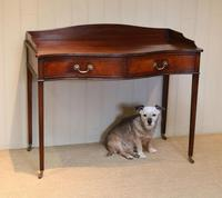 Mahogany Serpentine Front Side Table (4 of 10)