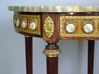 Good Louis XVI Style Marble & Kingwood Lamp Table (5 of 8)