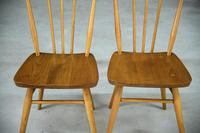 Pair of Vintage Ercol Stick Back Kitchen Chairs (6 of 8)
