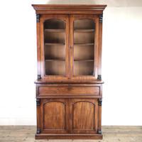 Victorian Mahogany Secretaire Bookcase (12 of 12)