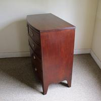 Mahogany Bow Front Chest of Drawers (6 of 7)