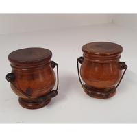 Lovely Pair of Georgian Treen Spice Pots (2 of 6)
