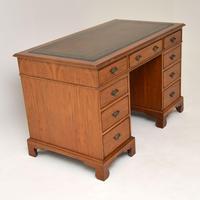 Antique Victorian  Walnut Pedestal Desk (3 of 11)