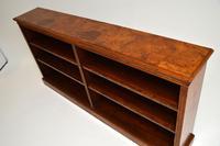 Antique Victorian Burr Walnut Double Open Bookcase (10 of 12)