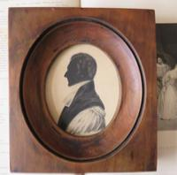 Late Georgian Clergyman Hand Painted Silhouette (2 of 4)