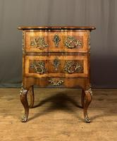French Walnut Shaped Front Commode Chest (4 of 10)