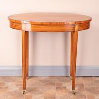 Inlaid Oval Satinwood Occasional Table (6 of 15)