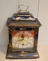 Small Blue Chinoiserie Bracket Clock (4 of 11)