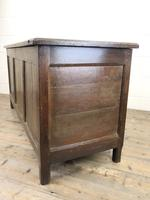 18th Century Oak Coffer with Three Panel Front (6 of 19)