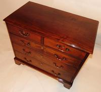 Small George III Cuban Mahogany Chest of Drawers (8 of 8)