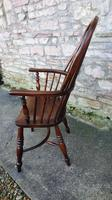 Wonderful Example of Handsome Yew High Back Windsor Chair (3 of 8)