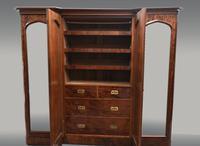 Large Antique Mahogany Four Door Breakfront Compactum Wardrobe (3 of 3)
