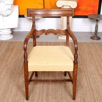 Armchair Fruitwood Desk Library Chair 19th Century Victorian Carved (4 of 11)