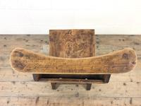 Set of Four Victorian Elm Chapel Chairs (4 of 8)