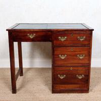 Edwardian Oak Pedestal Writing Desk (2 of 12)