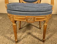 Set Of 12 Chairs And Two Armchairs Louis XVI 18th Century (2 of 11)