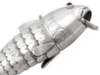 German Sterling Silver Fish Spice Box - Antique 1910 (7 of 12)