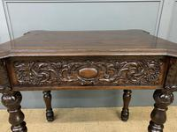 Good 19th Century Carved Oak Table (4 of 15)