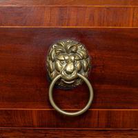 Secretaire Bureau Bookcase Astragal Glazed Mahogany (16 of 17)