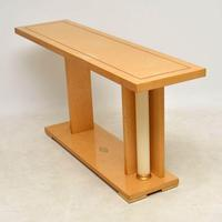 1970's Vintage Italian Maple Console Table (4 of 11)