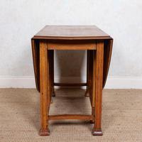 Oak Gateleg Dining Table Carved Solid Folding Kitchen Table (13 of 15)